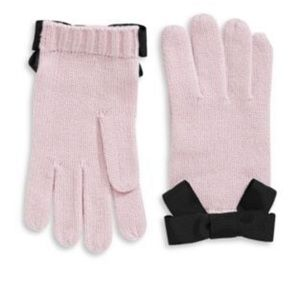 Kate Spade Pink Bow Gloves